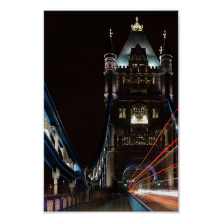 Tower Bridge Lights London United Kingdom Europe Poster