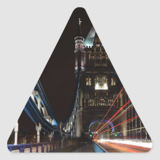 Tower Bridge Lights London United Kingdom Europe Triangle Sticker