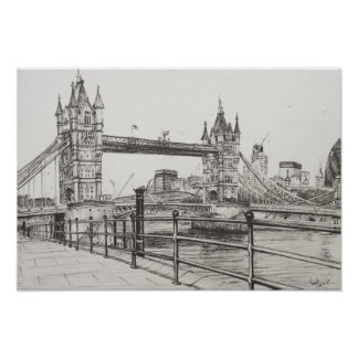 Tower Bridge London 2006 Poster