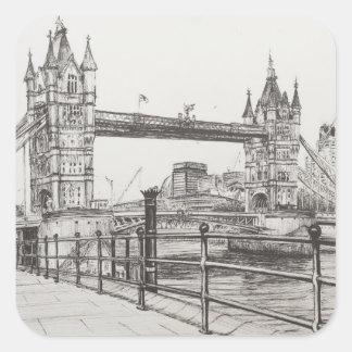 Tower Bridge London 2006 Square Sticker