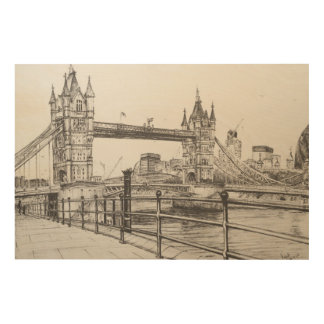 Tower Bridge London 2006 Wood Print