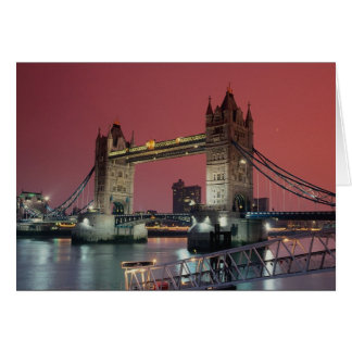 Tower Bridge, London at sunset, England, U.K. Card