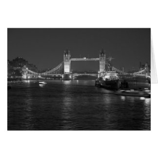 Tower Bridge London, Black and White Card