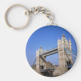 Tower Bridge, London, England Basic Round Button Key Ring