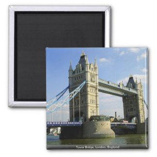 Tower Bridge, London, England Square Magnet