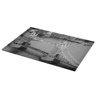 Tower Bridge London glass cutting board