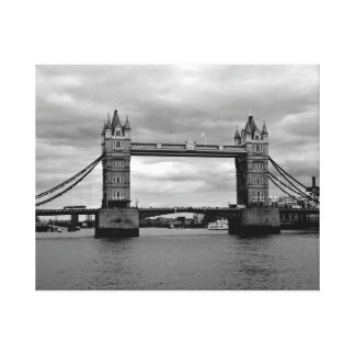Tower Bridge London  in Moody Monochrome Canvas Print