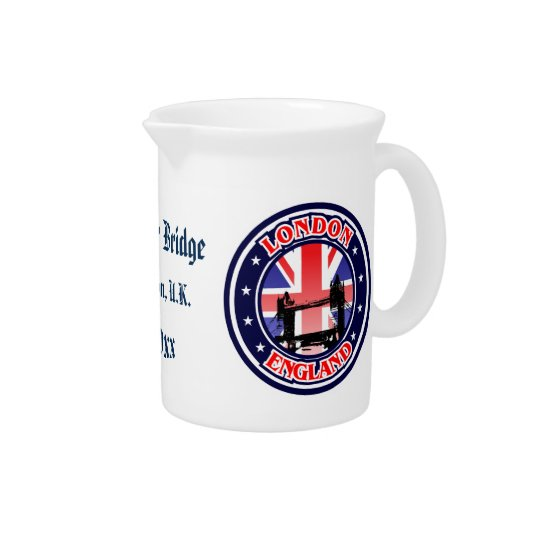 Tower Bridge - London, U.K. Beverage Pitcher