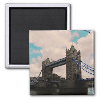 Tower Bridge London Vintage Inspired Square Magnet