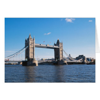 Tower Bridge on the Thames River Card