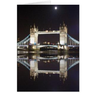 Tower Bridge Reflected Card