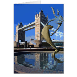 Tower Bridge retro poster-style card