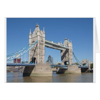 Tower Bridge River Thames London Card