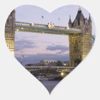 Tower Bridge River Thames London England Heart Sticker
