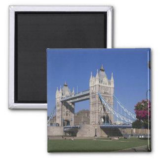 Tower Bridge, River Thames, London, England Square Magnet