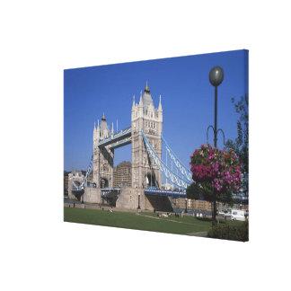 Tower Bridge, River Thames, London, England Stretched Canvas Print
