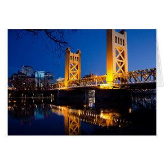 Tower Bridge - Sacramento, CA Card