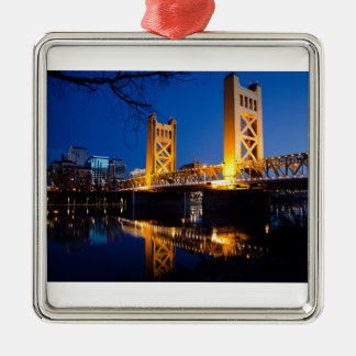 Tower Bridge - Sacramento, CA Christmas Ornament