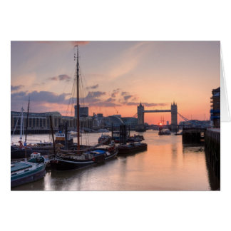 Tower Bridge Sunset Greetings Card