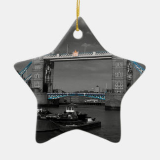 Tower  Bridge Thames London Christmas Ornament