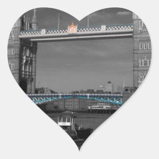 Tower  Bridge Thames London Heart Sticker