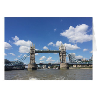 Tower Bridge Thames River London England UK Photo Card