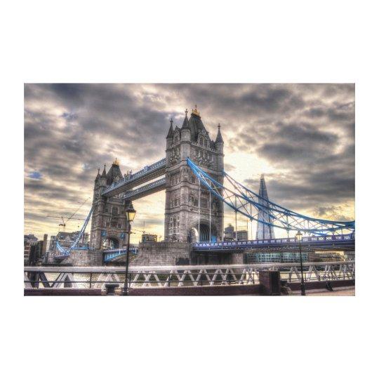 Tower Bridge & The Shard, London, England Canvas