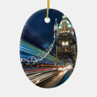 Tower Bridge traffic, London Christmas Ornament