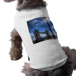 Tower Bridge View Sleeveless Dog Shirt