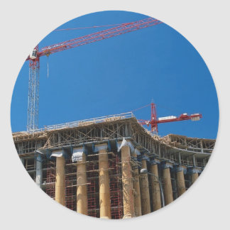 Tower crane, Washington, D.C., U.S.A. Classic Round Sticker