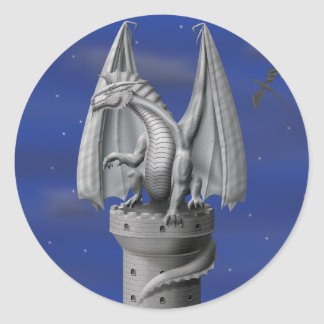 Tower Guardian - Silver Dragon Stickers