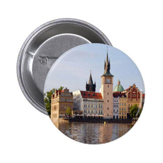 Tower in Prague 6 Cm Round Badge