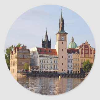 Tower in Prague Classic Round Sticker