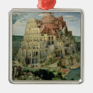 Tower of Babel, 1563 (oil on panel) Silver-Colored Square Decoration