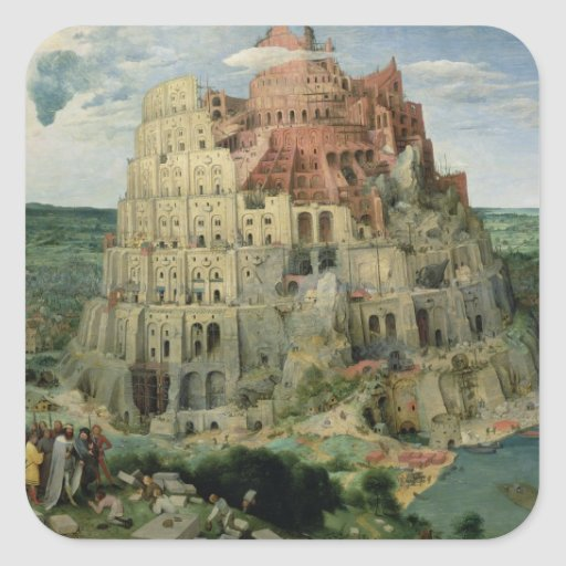 Tower of Babel, 1563 (oil on panel) Sticker