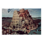 Tower Of Babel,  By Bruegel D. Ä. Pieter Poster