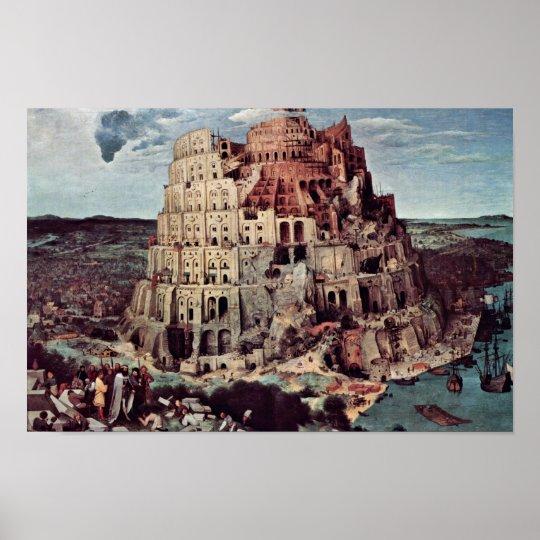 Tower Of Babel,  By Bruegel D. Ä. Pieter Poster