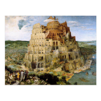 Tower of Babel - Peter Bruegel Postcard