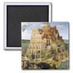 Tower of Babel - Peter Bruegel Square Magnet