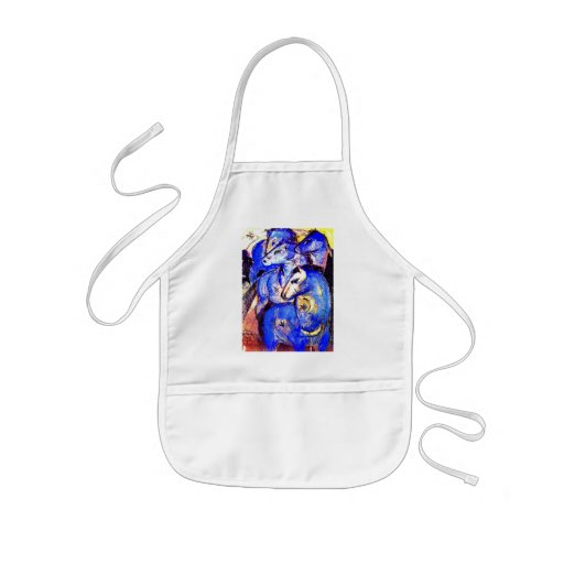 Tower of Blue Horses by Franz Marc Apron