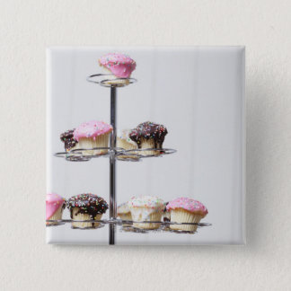 Tower of cupcakes or patty cakes 15 cm square badge