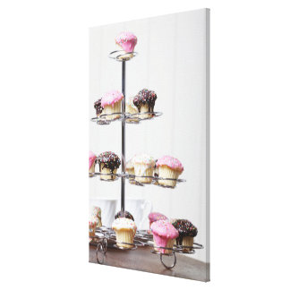 Tower of cupcakes or patty cakes canvas print