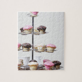 Tower of cupcakes or patty cakes jigsaw puzzle