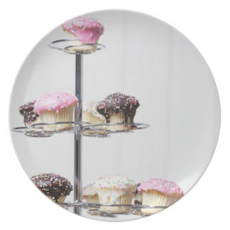 Tower of cupcakes or patty cakes plate
