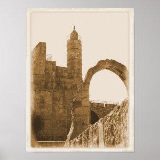 Tower of David - Jerusalem Poster