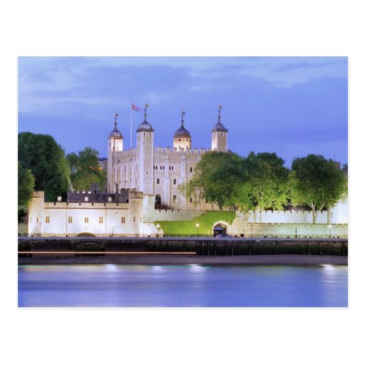 Tower of London and River Thames Post Card