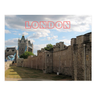 Tower of London and Tower Bridge postcard