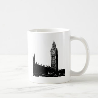 Tower of London Big Ben Black and White Photograph Mugs