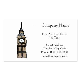 Tower of London Big Ben Cartoon Illustration Pack Of Standard Business Cards