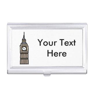 Tower of London Big Ben Cartoon Illustration Business Card Holder